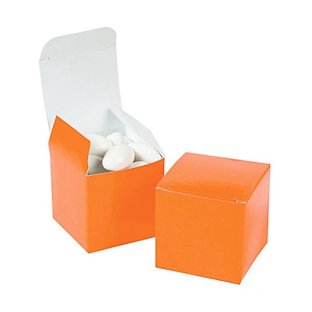 "2"" Orange Gift Boxes"