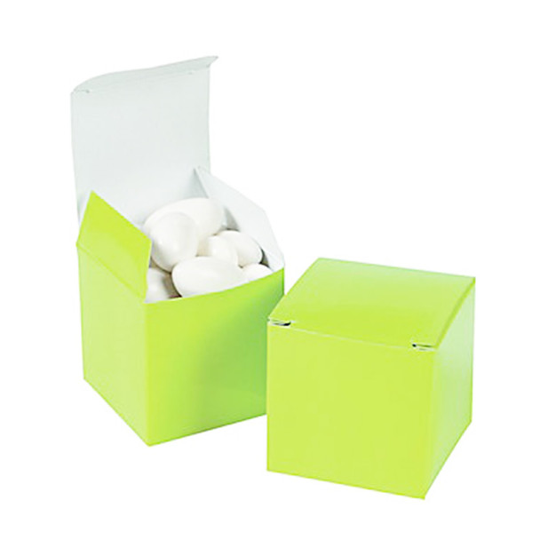 """2"""" Lime Green Gift Boxes"""