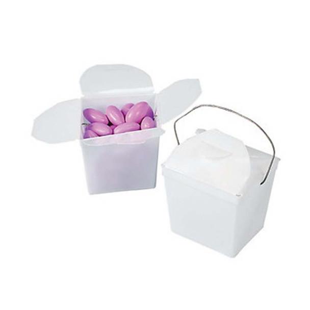 """2.25"""" White Take Out Boxes"""