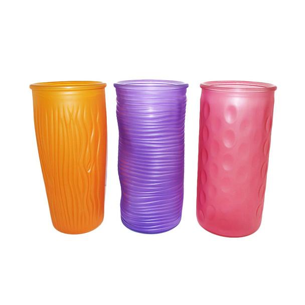 "9.75""H Breeze Assortment Glass Rose Vase"