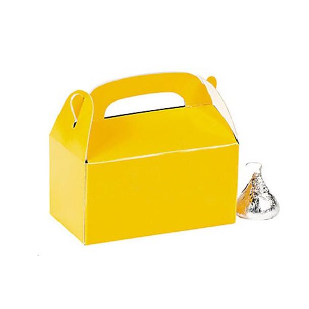 "3"" Yellow Rectangular Treat Boxes"