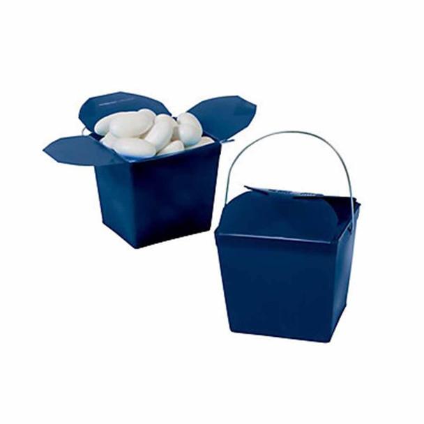 "2.25"" Navy Blue Take Out Boxes"