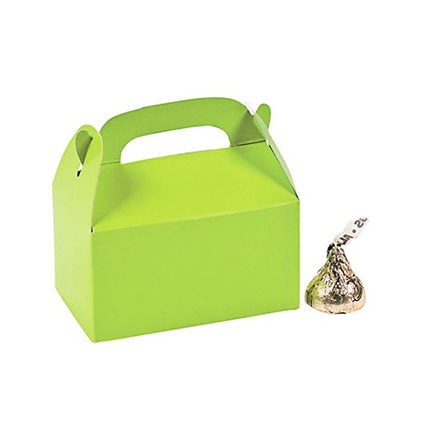 "3"" Lime Green Rectangular Treat Boxes"