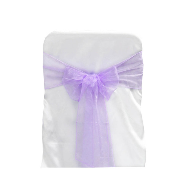 Lavender Organza Chair Bow 6 Ps