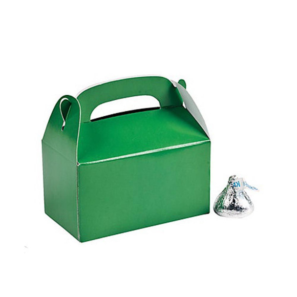 "3"" Green Rectangular Treat Boxes"