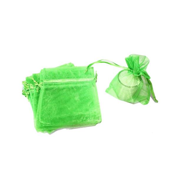 "4"" Green Organza Pouch"