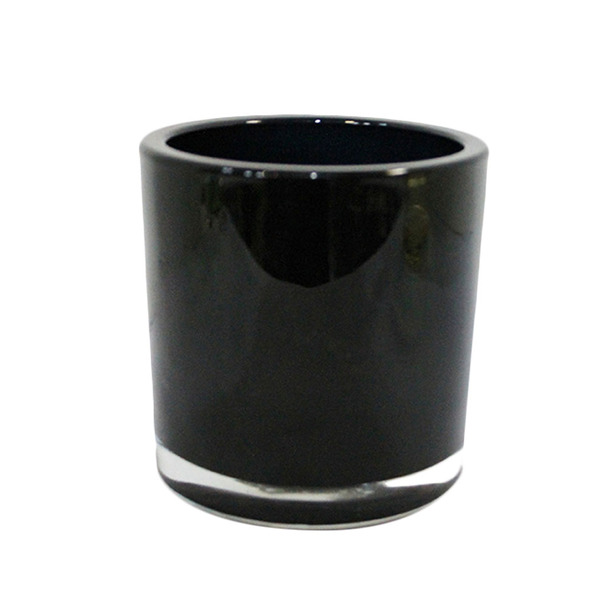 """5""""H Black Glass Cylinder Vase"""