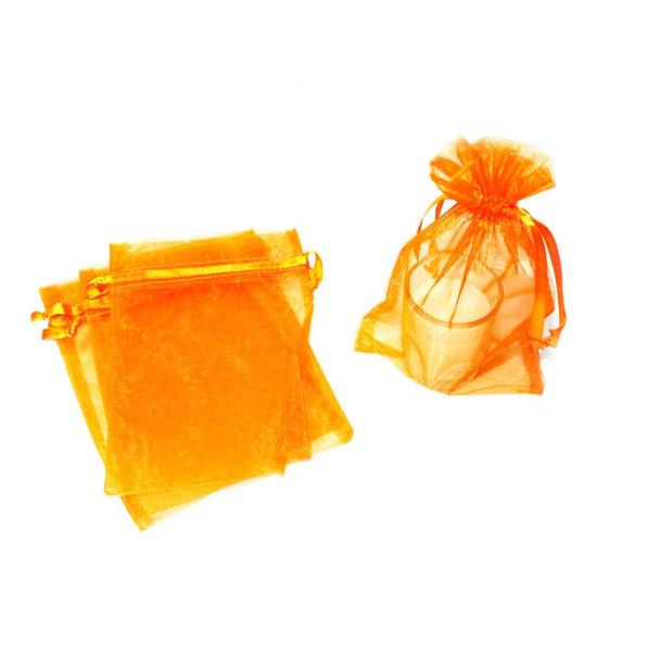 """4"""" Orange Organza Pouch"""