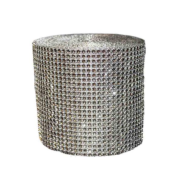 """5"""" x 10Yd Silver Diamond Roll"""