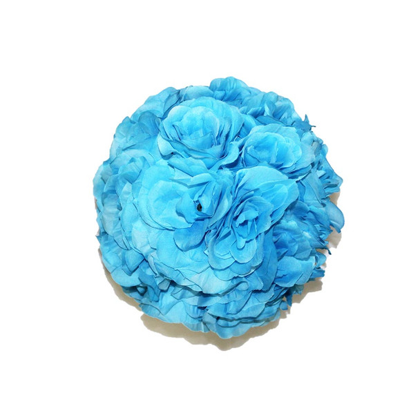 "10"" Turquoise Flower Ball"
