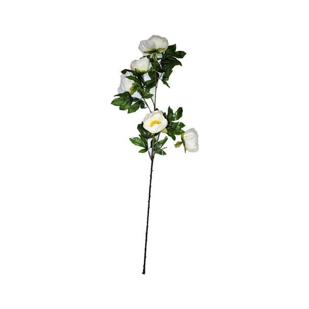 "45"" White Long Stem Peony Flower"