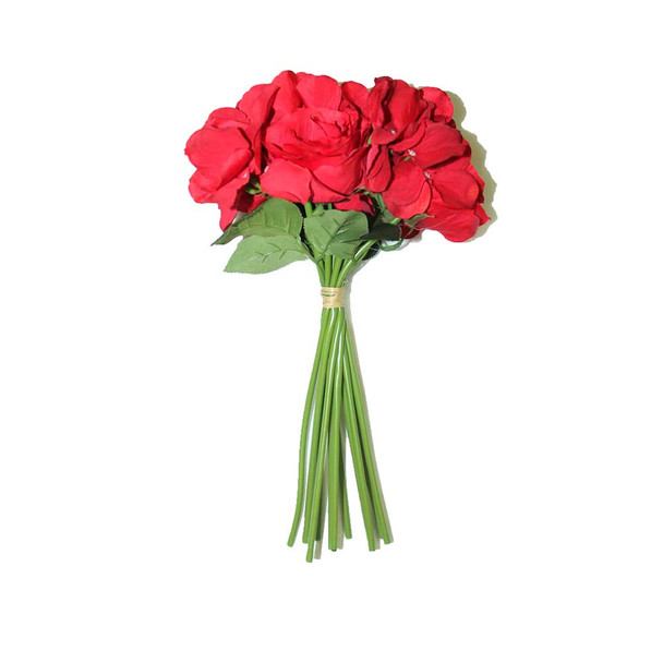 "13"" Red Bunch Bouquet Flowers"