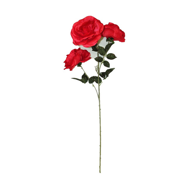 """48"""" Long Stem With 3 Roses. Red"""