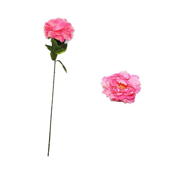 "30"" Pink  Long Stem Peony Flower"