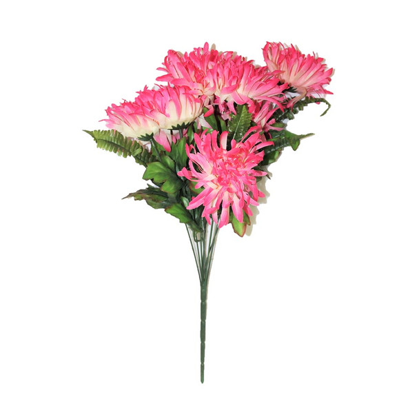 """20"""" Pink Spider Mum Flower Bunch"""