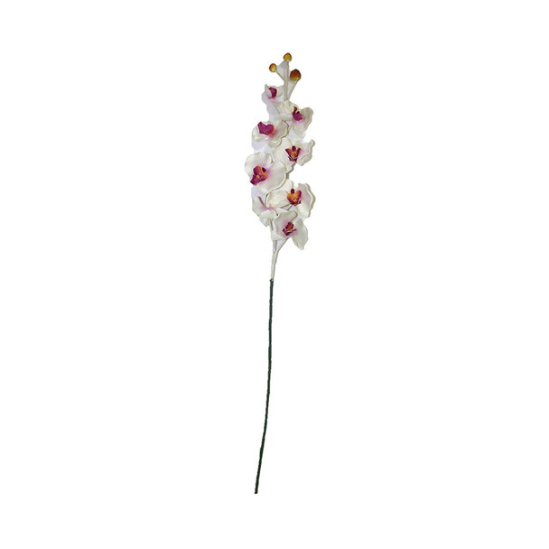 "36"" Long Stem With Orchids. White/ Purple Detail"