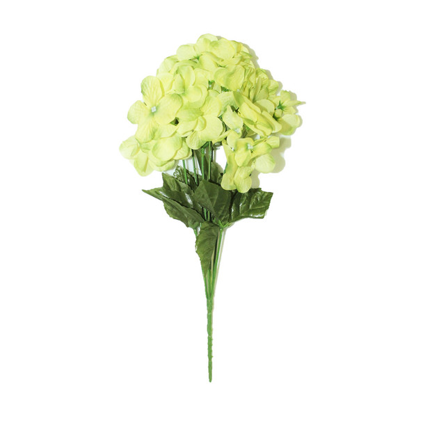 "14"" Green Hydrangea Bunch Flower"