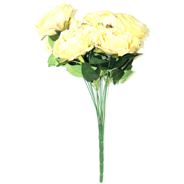 "15"" Bunch Of Roses, 9 Stems. White"