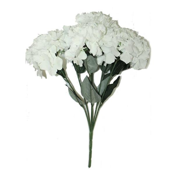 Artificial Hydrangea 6 Stems. White