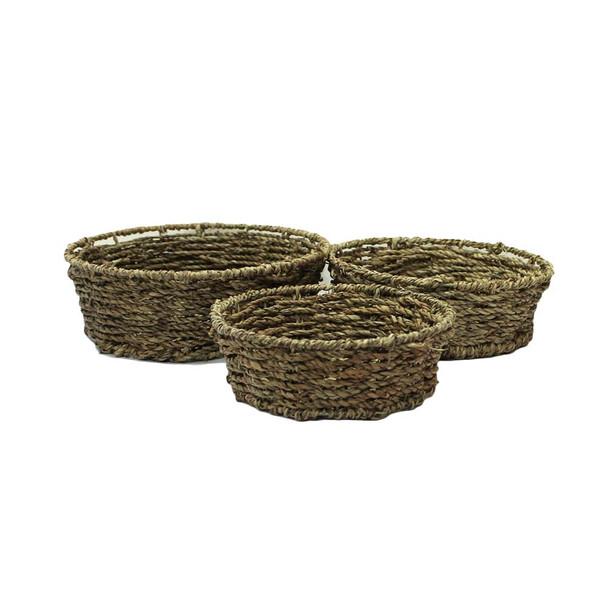 Round Rope Basket Set of 3