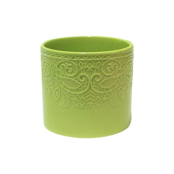 "4.5""H Green Ceramic Cylinder"
