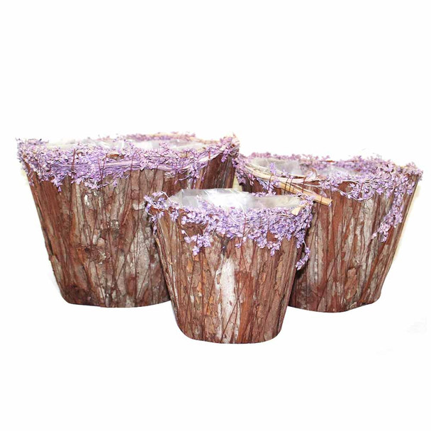 Round Wood Basket Set of 3  Dy172586