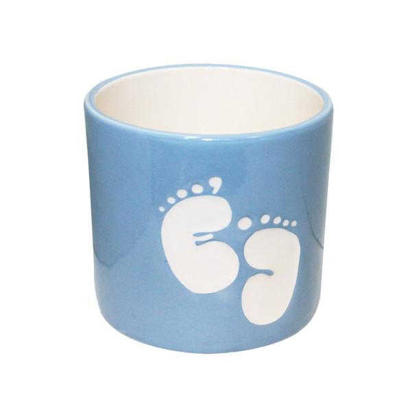 Baby Shower Blue Ceramic Cylinder