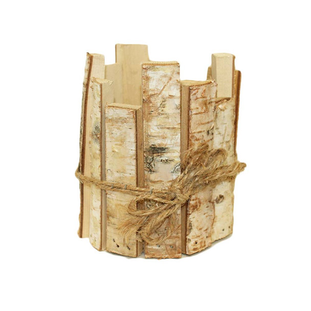 "7"" Irregular Birch Slice Pot Cover"
