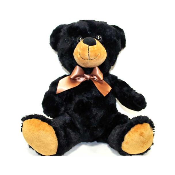 """14.5"""" Black Sitting Teddy Bear"""