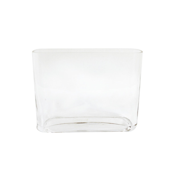 "7.5""H Squarish Glass Vase"