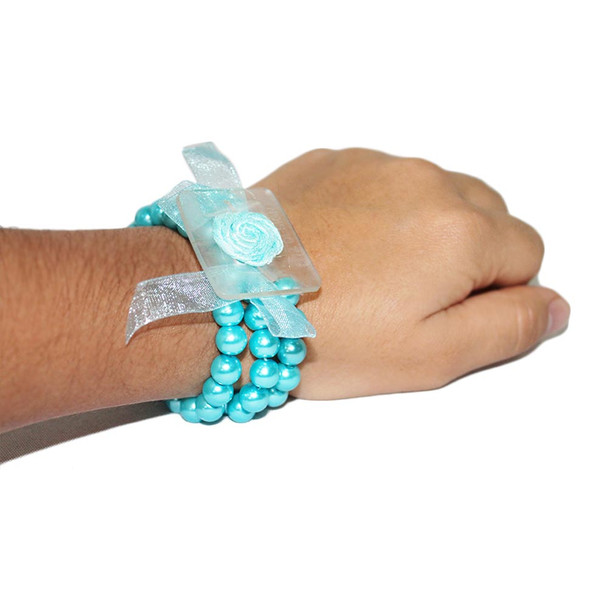 Special Turquoise Avery Flower Bracelet