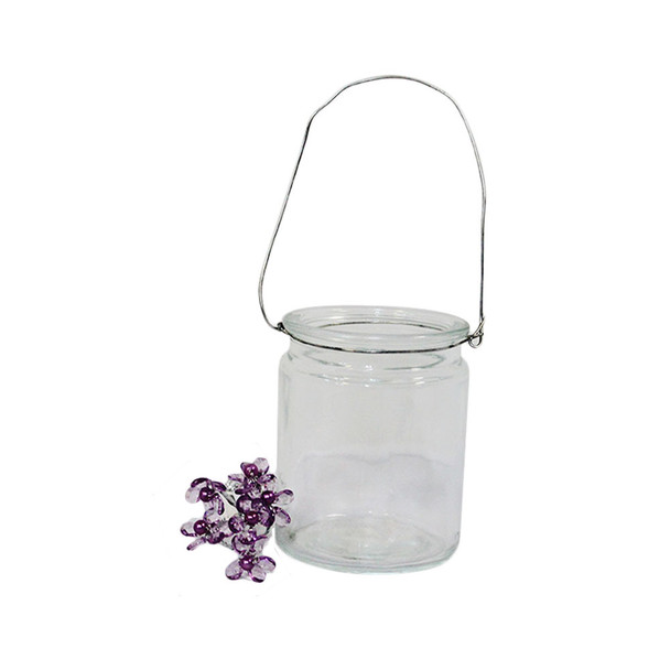 """4""""  Clear Hanging Cup Candle Holder"""