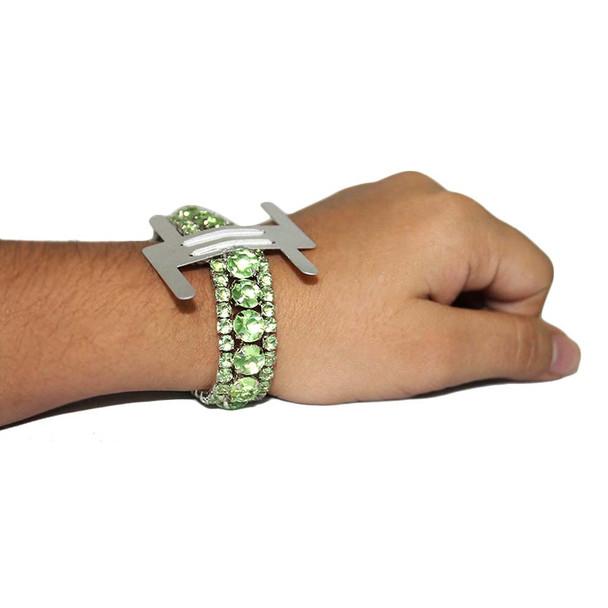 Green Hard Rock Flower Bracelet