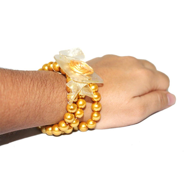 Special Gold Avery Flower Bracelet