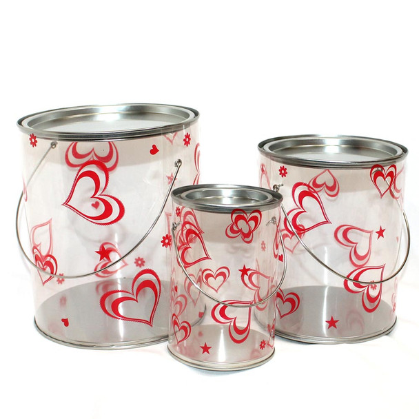Hearts Plastic Container Set of 3