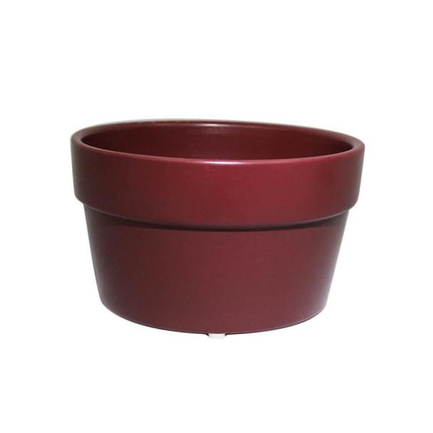"7 3/4"" Burgundy Pot Planter"