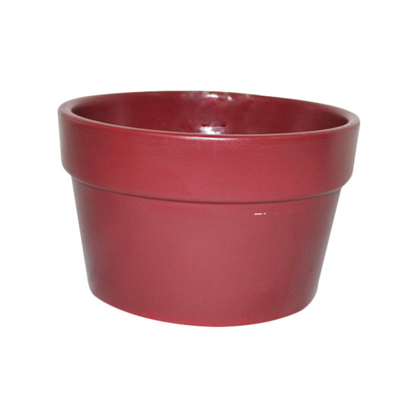"6 1/4"" Burgundy Ceramic Pot Planter"