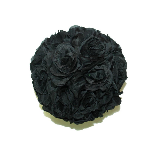 "10"" Black Flower Ball"