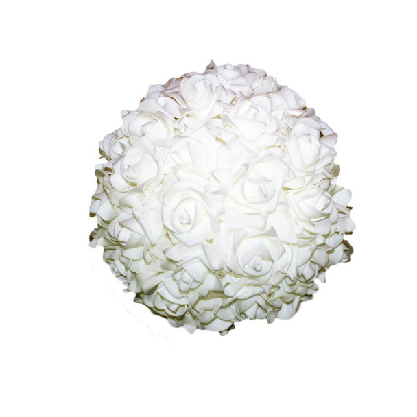 "10"" White Flower Foamy Ball"
