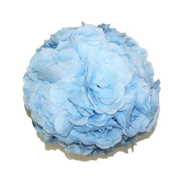"10"" Light Blue Flower Ball"