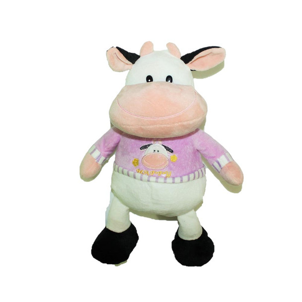 "14"" Happy Little Cow. T-Shirt Pink"