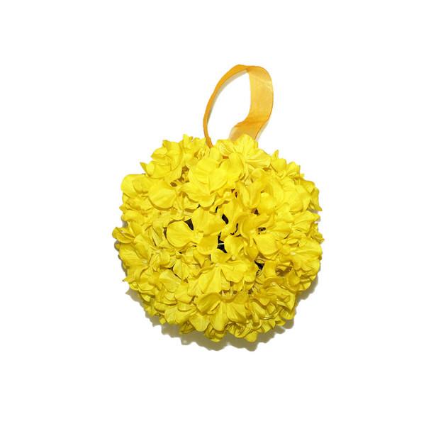 "9"" Yellow Hydrangea Flower Ball"