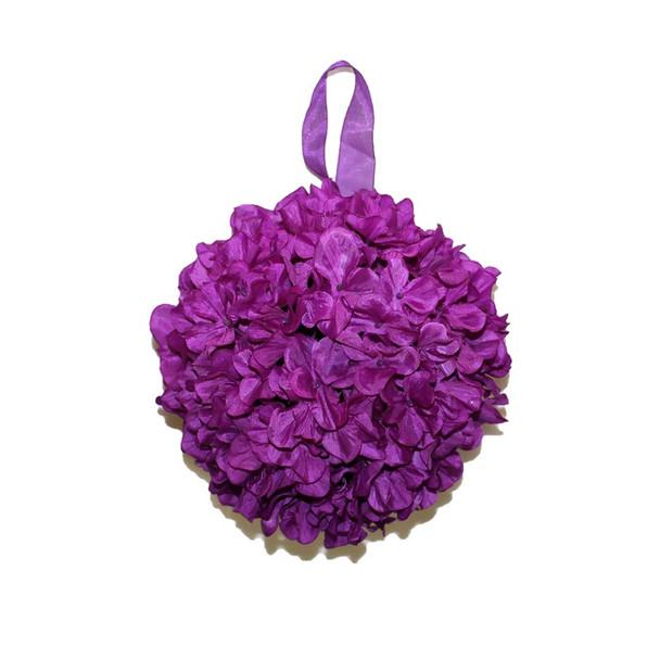"""9"""" Purple Hydrangea Flower Ball"""