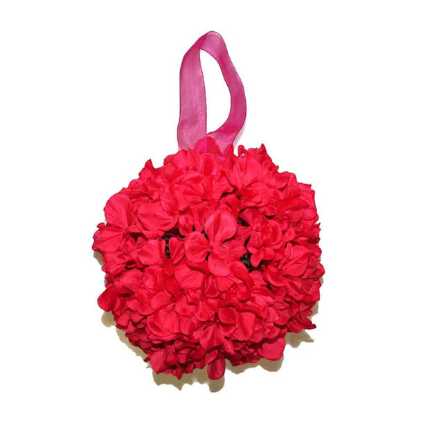 "9"" Hot Pink  Hydrangea Flower Ball"