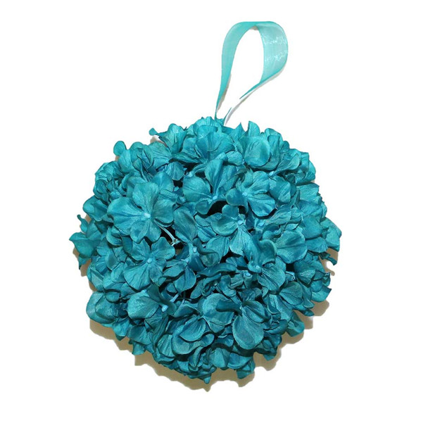 "9"" Turquoise Hydrangea Flower Ball"