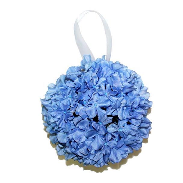 """9"""" Light Blue Hydrangea Flower Ball"""