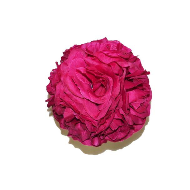 """7"""" Dark Pink Flower Ball"""