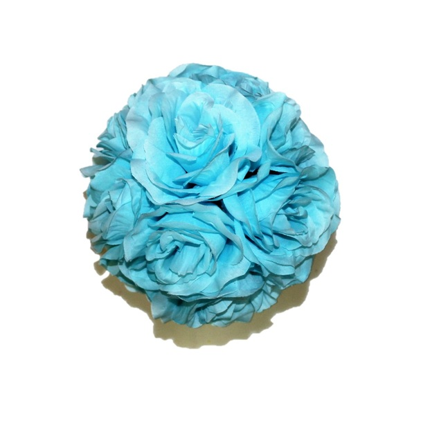 "7"" Light Blue  Flower Ball"