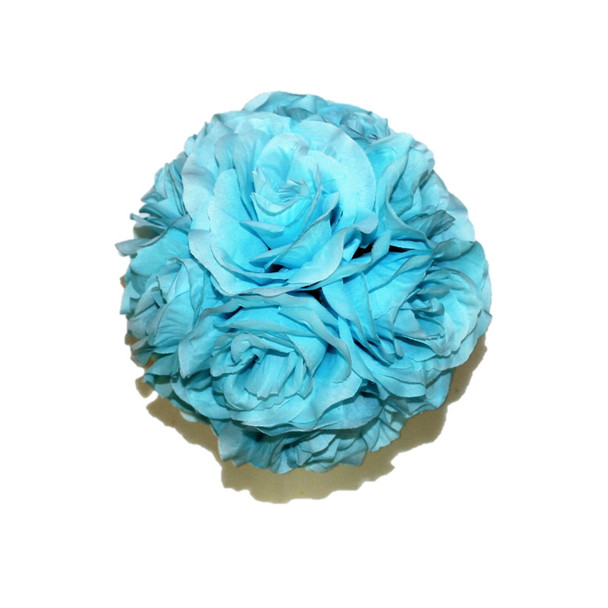 """7"""" Light Blue  Flower Ball"""