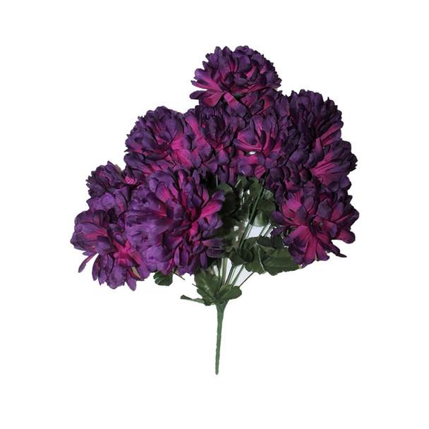 "20"" Purple Bunch Chrysanthemum Flower"